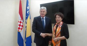 Predsjednik Čović primio u oproštajni posjet veleposlanicu NR Kine u BiH Chen Bo