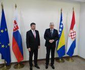 Predsjednik Čović se sastao s ministrom vanjskih poslova Republike Slovačke Miroslavom Lajčakom